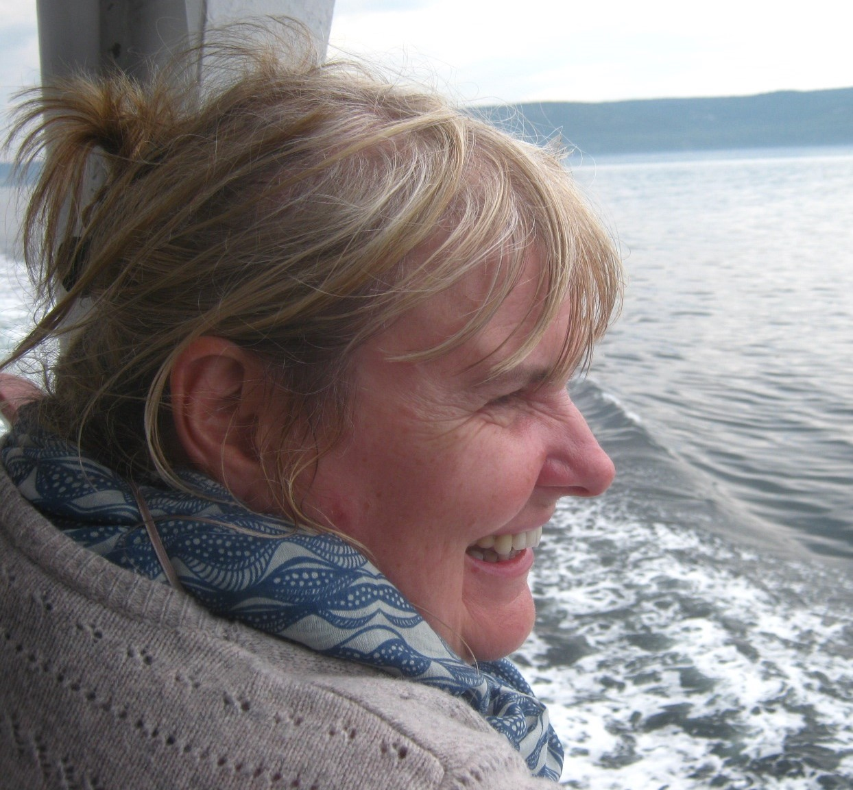 Liz - pic on boat[1].jpg