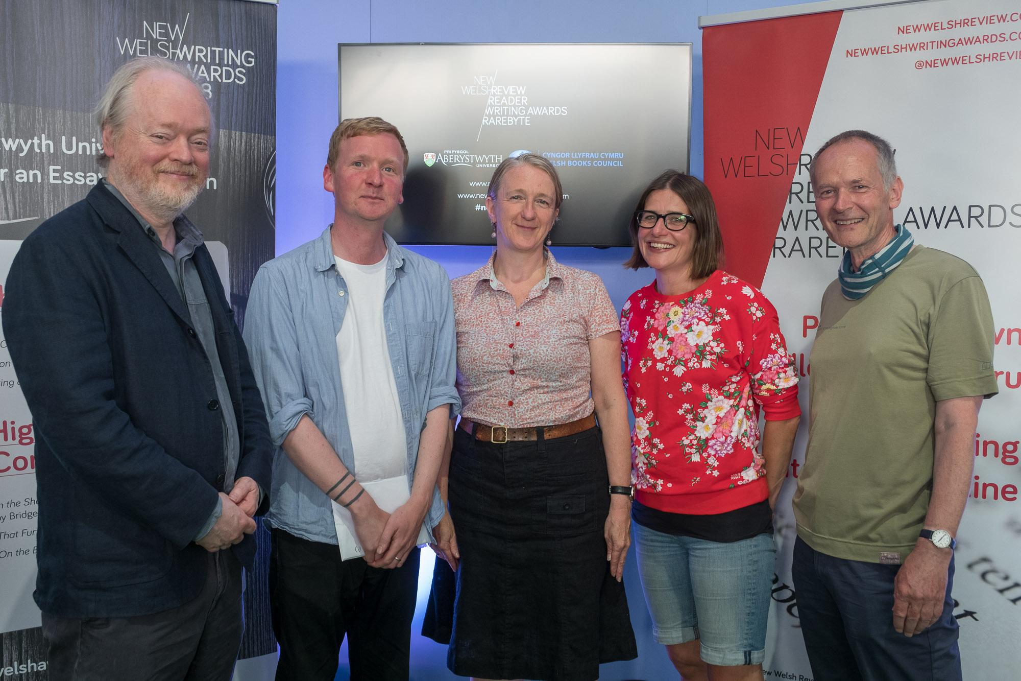 L-R: Matthew Francis, Ed Garland, Gwen Davies, Cathryn Summerhayes & Andrew Green. Pic: Keith Morris.