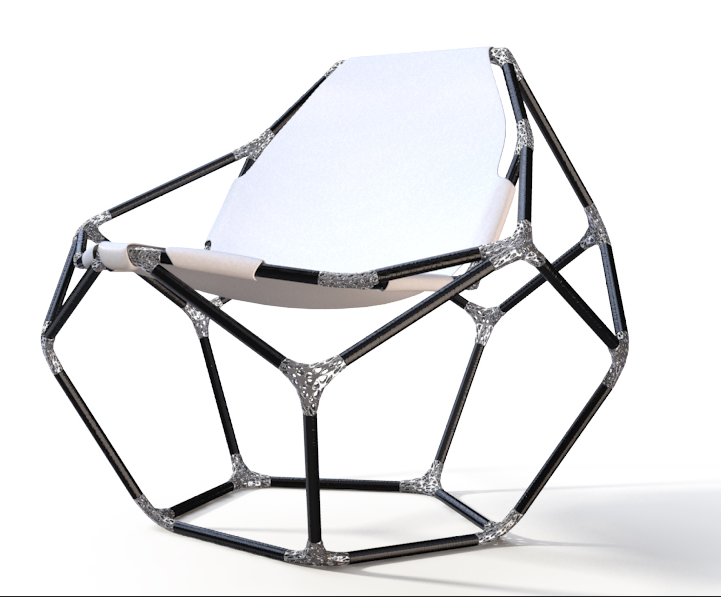 """The Ti-Join chair by  Peter Donders  will be showcased at an exhibition entitled """"Making a Difference / A Difference in Making at the  Bozar Center , April 24 - June 7, 2015."""