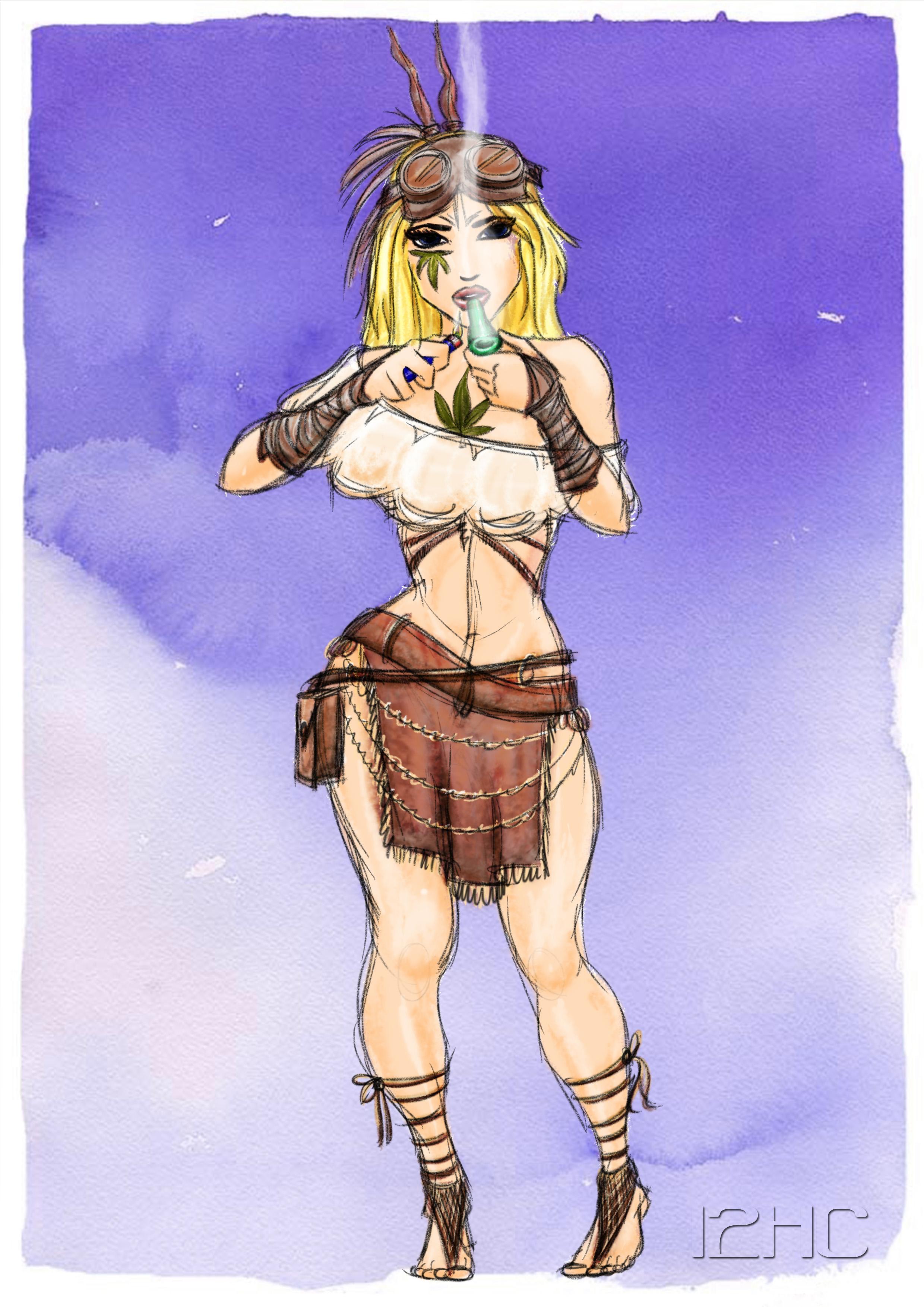 11 - Hippie Chick - Coloured 3.jpg