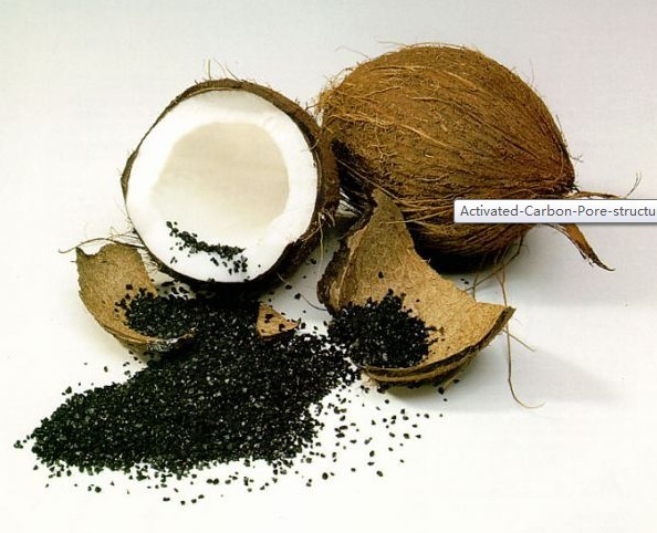The best activated charcoal is produced from coconut shells