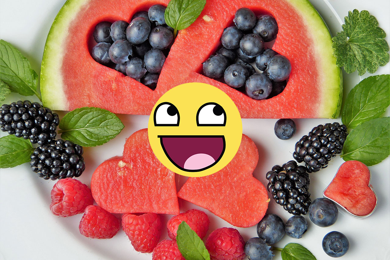 Right. eat more fruit.