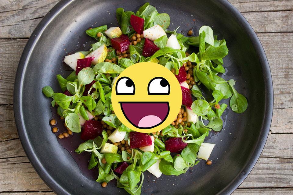 Ok OK. veggies are good for me
