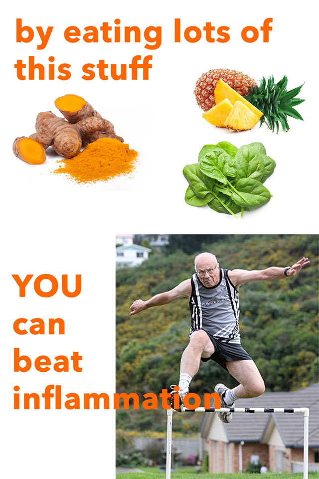 eat turmeric pineapple and leafy greens to beat inflammation