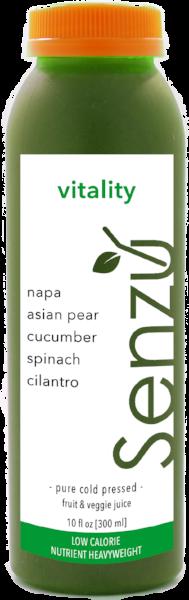 Napa cabbage juice is refreshing
