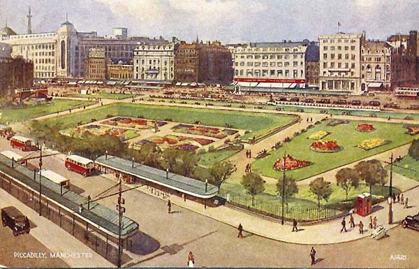 Manchester's Piccadilly Gardens in 1946.