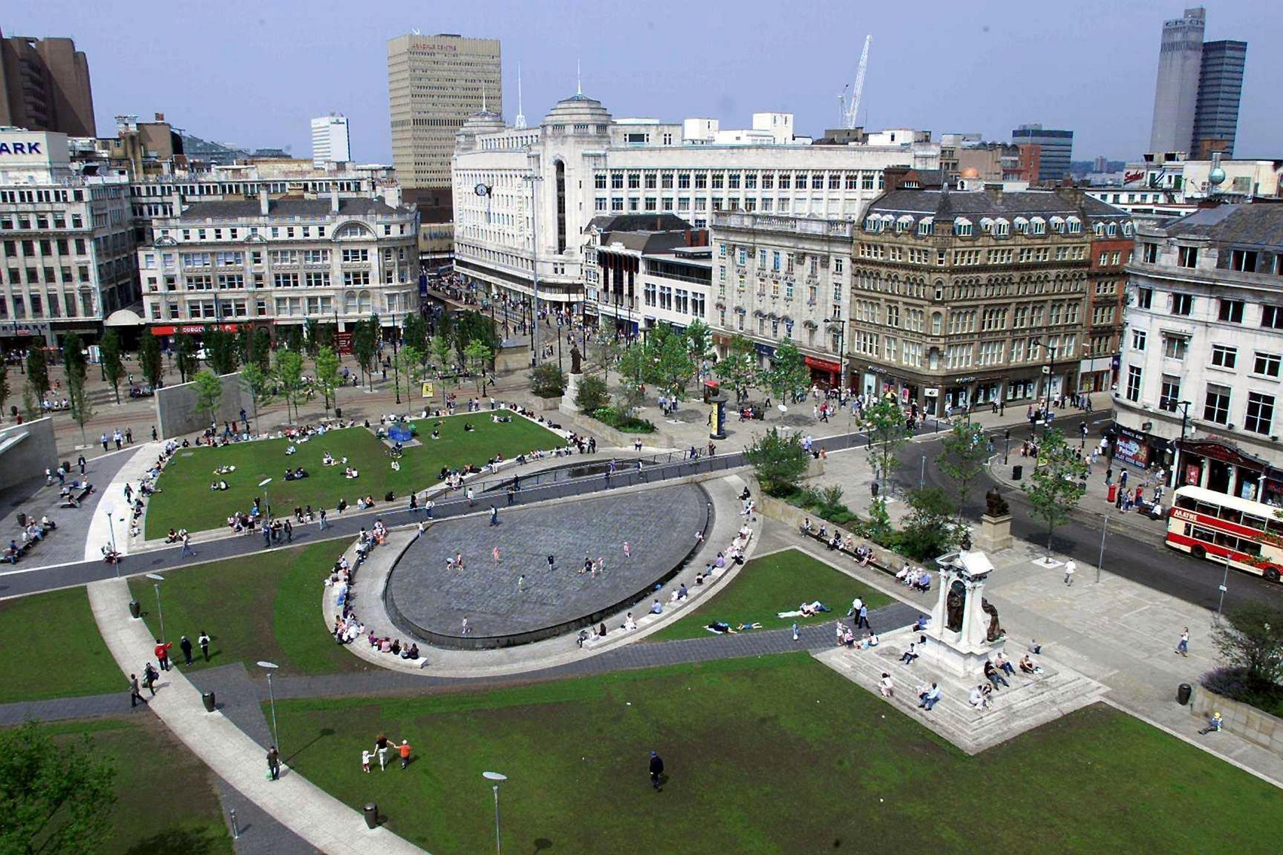 Piccadilly Gardens as it is now.