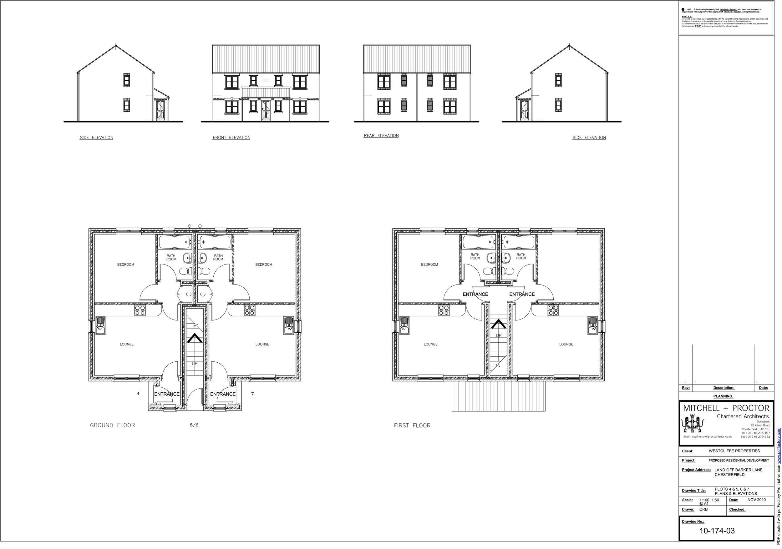 Barker Lane plots 4-7   Download the plans