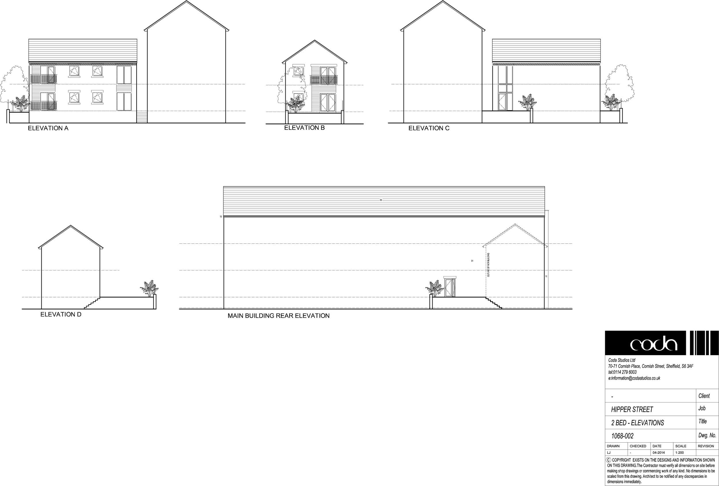 2 Bed Elevations