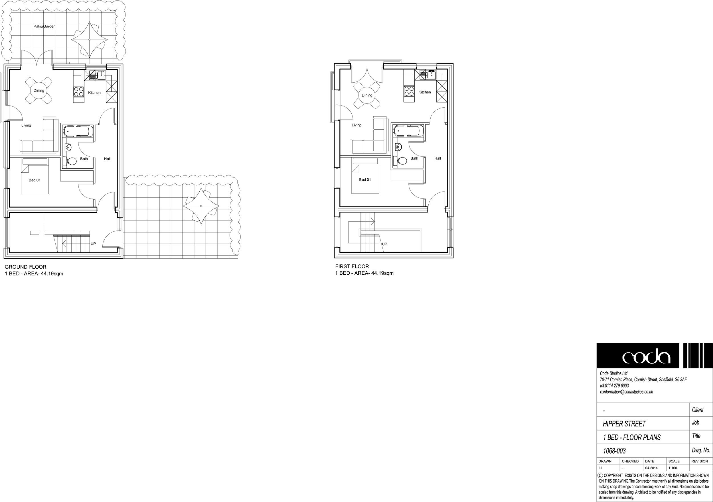 1 Bed Floor Plans