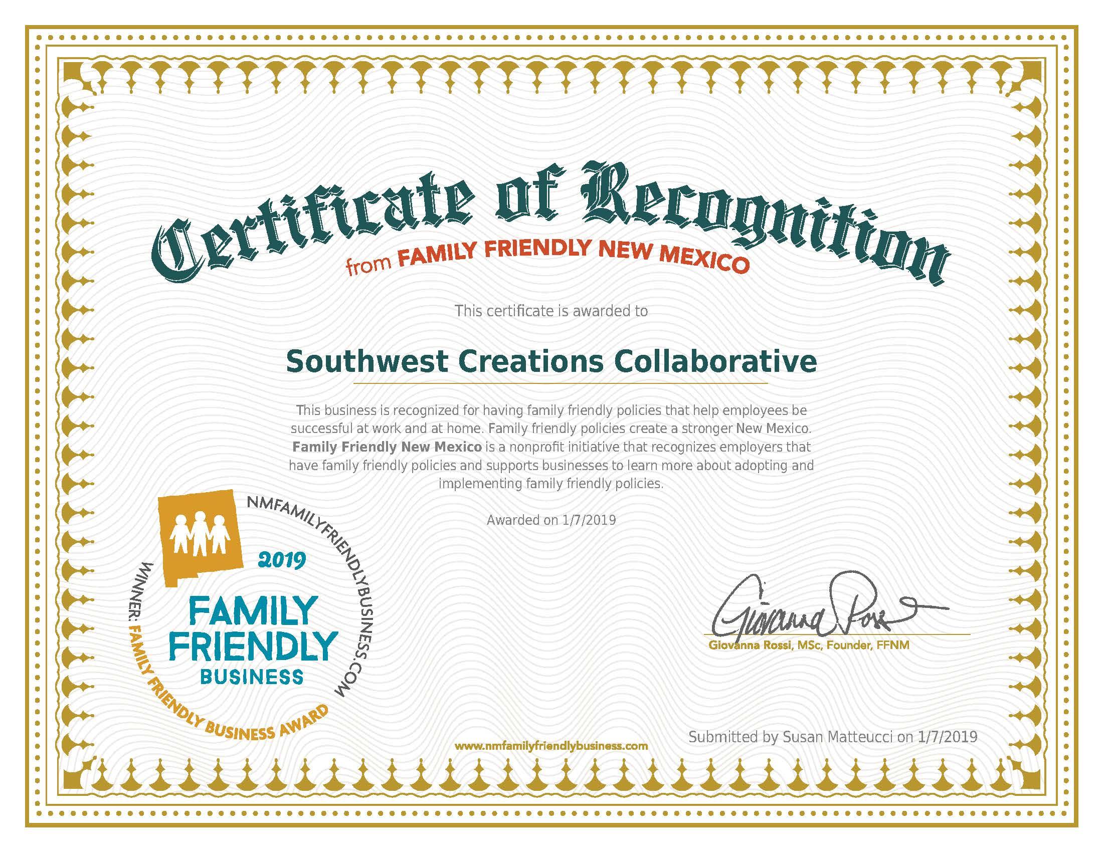 19NMFFBAward-Gold-Southwest Creations Collaborative-01_07_2019.jpg