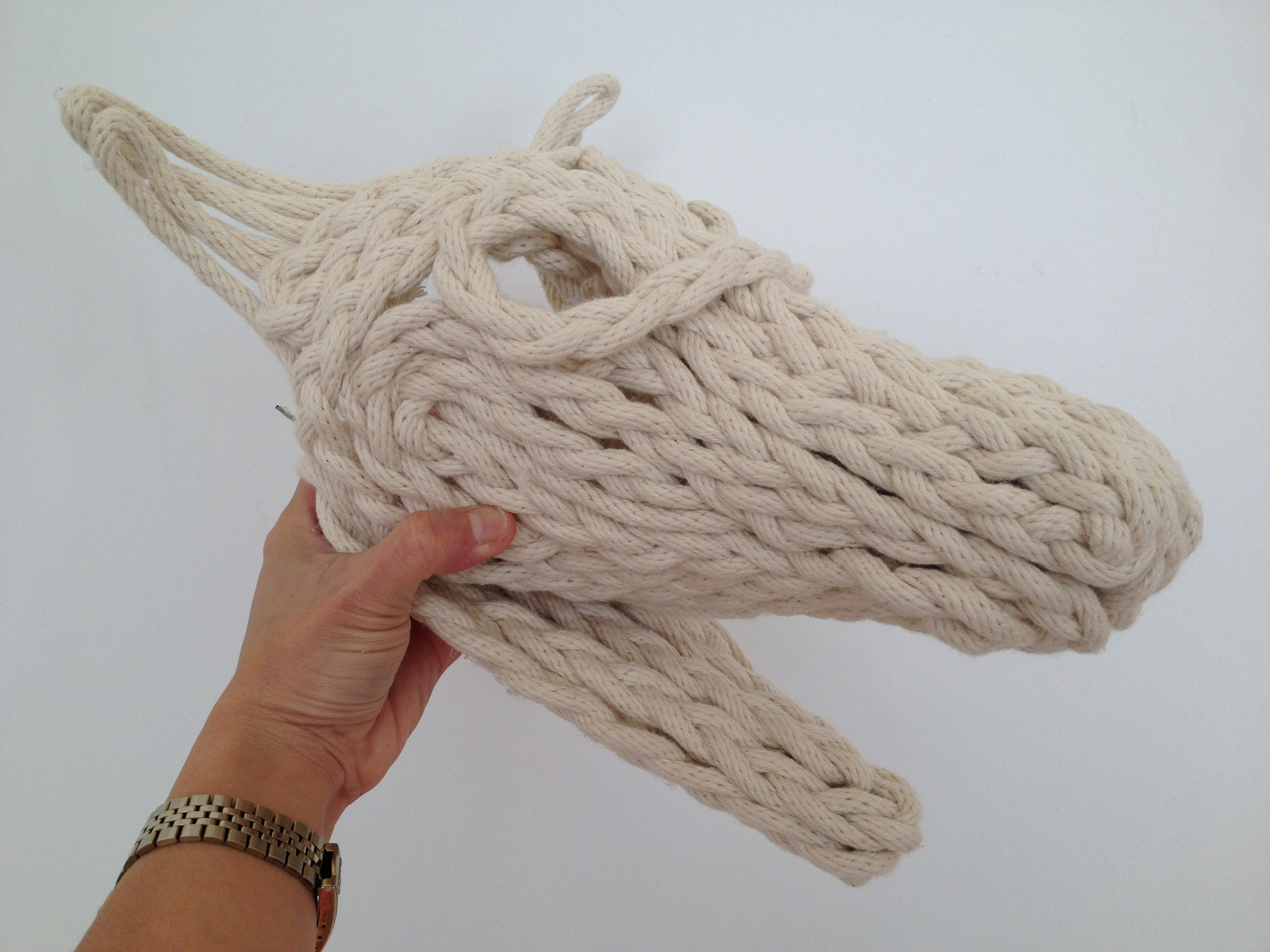ROPE DOG SKULL Cotton rope, steel wire