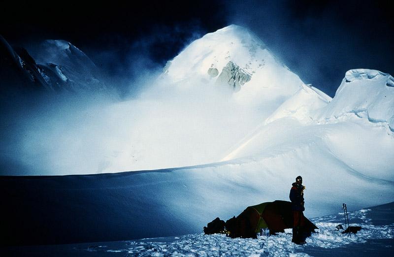 On the 1st Alpine style ascent of the South Buttress, Denali, Alaska