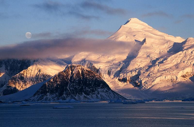 Leone Island & Mt Liotard from Rothera Point, Antarctica