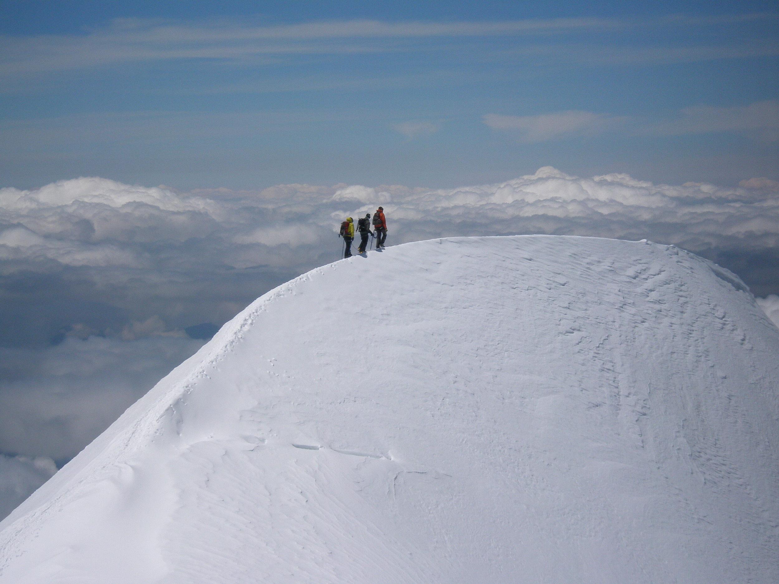 On the Bosses Ridge of Mont Blanc, France