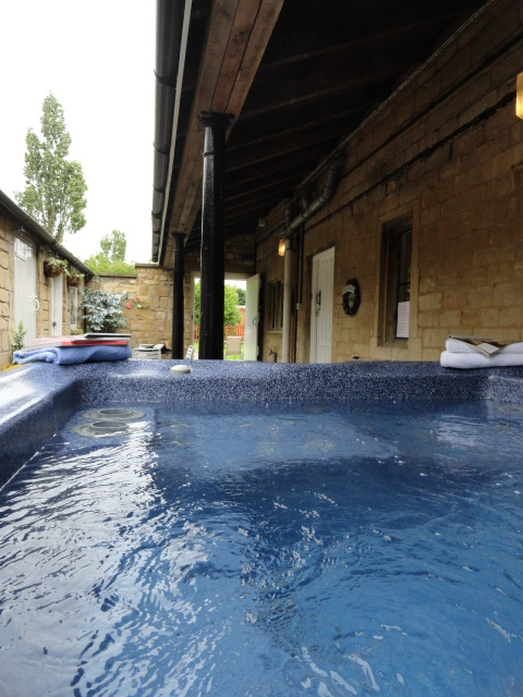 Relaxing hot tub...