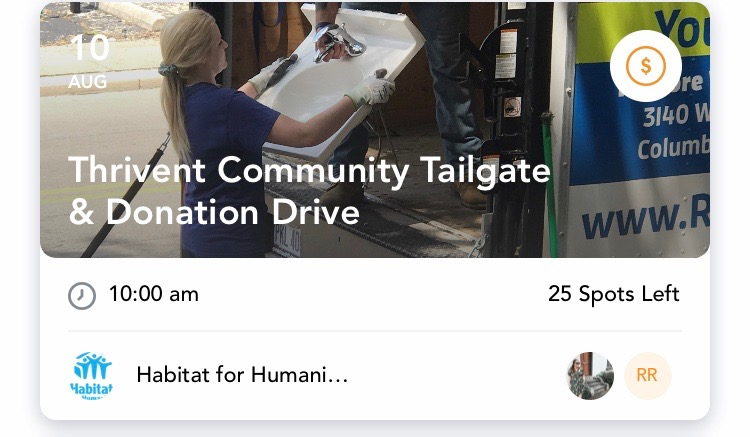 - Community Tailgate & Donation Drive for Habitat for HumanitySaturday, August 10