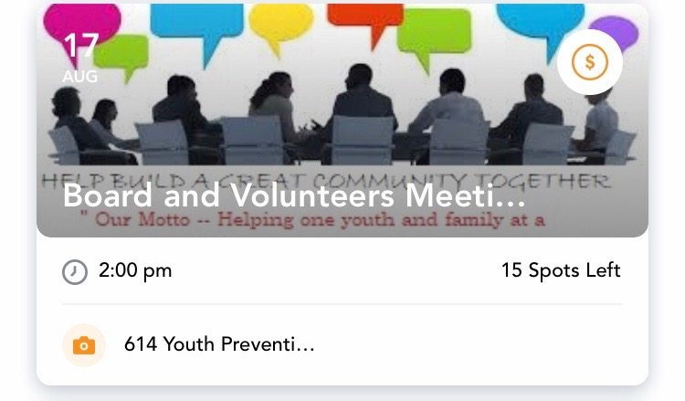 - Board & Volunteers Meeting for 614 Youth Prevention AgencySaturday, August 17