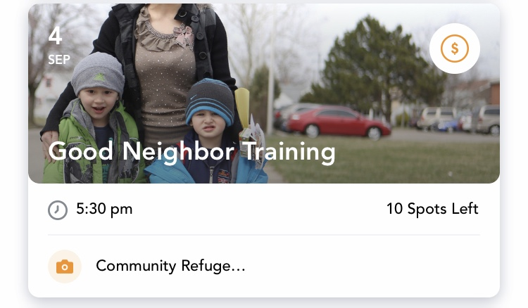 Good Neighbor Trainingwith Community Refugee & Immigration Services - Wednesday, Sept. 4