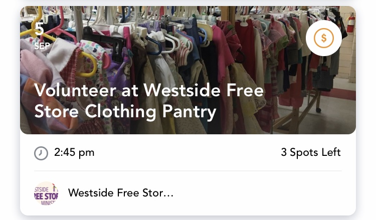 Sort Clothes at the Westside Free Store - Thursday, Sept. 5