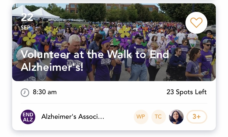 Volunteer at the Walk to End Alzheimer's - Saturday, Sept. 22