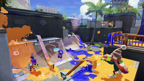 Splatter enemies and claim your turf as ink-spraying, squid-like Inklings in Nintendo's new mess fest! (Photo: Business Wire)