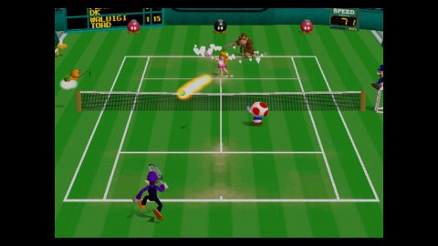 In Mario Tennis, the Mushroom Kingdom's finest hit the court in this wild multiplayer tennis game from Camelot, the talented developers behind the Golden Sun and Mario Golf games. (Photo: Business Wire)