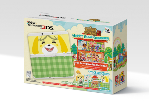 On Sept. 25 the New Nintendo 3DS system will launch in the U.S. as part of a special bundle, which includes the new hand-held system, the upcoming Animal Crossing: Happy Home Designer game, two cover plates and one amiibo card (Photo: Business Wire)