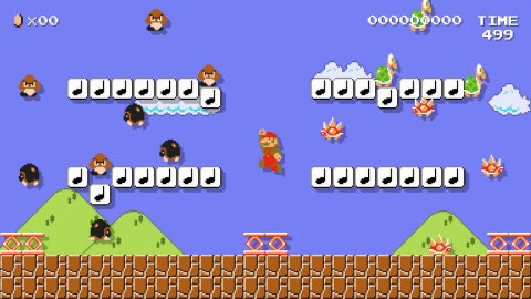 The Super Mario Maker game is available exclusively for the Wii U console on the 11th of September . (Photo: Business Wire)