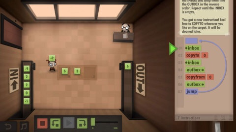 The newest game from the designer of the World of Goo game and the team behind the Little Inferno game, Human Resource Machine is a puzzle game for nerds! (Photo: Business Wire)