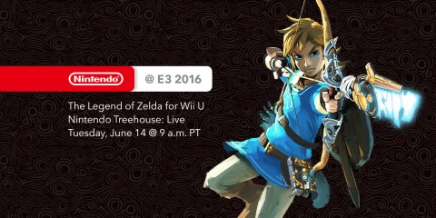 Nintendo's kickoff to the E3 show happens  at 9 a.m. PT Tuesday, June 14 , when Nintendo of America President and COO Reggie Fils-Aime introduces Nintendo Treehouse: Live, which will be dedicated to a day of live-streamed gameplay of The Legend of Zelda. (Graphic: Business Wire)