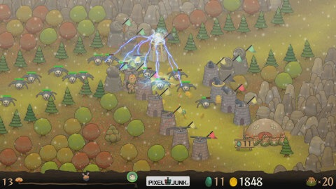 PixelJunk Monsters, the classic tower defense game, comes to the Wii U system! (Graphic: Business Wire)