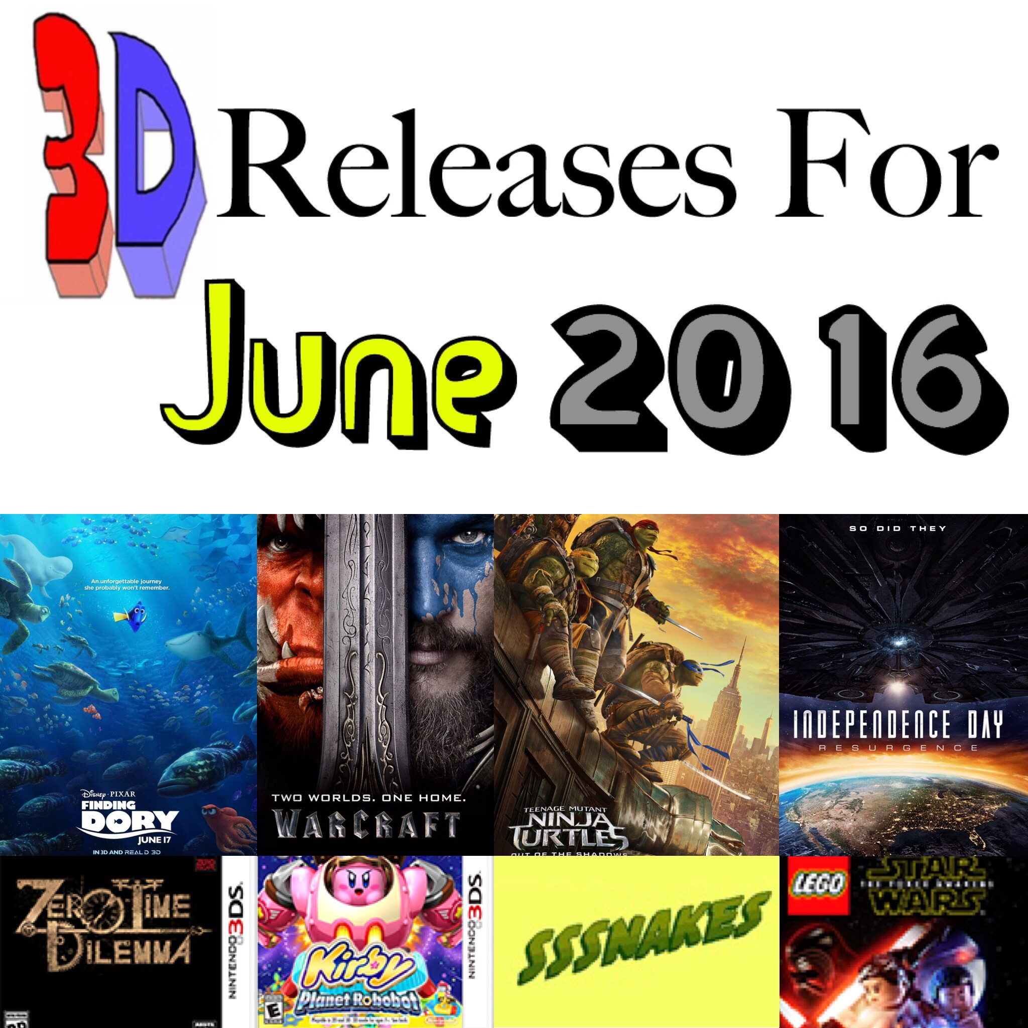 June has so many big 3D movies and 3DS games!