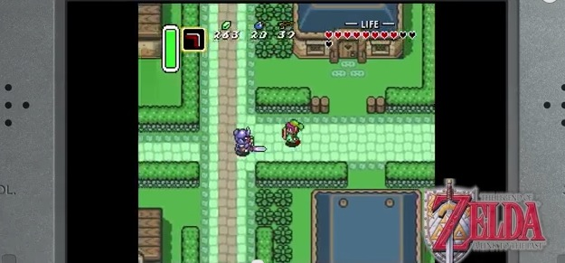 The Legend of Zelda A Link to the past Virtual Console game on New 3DS