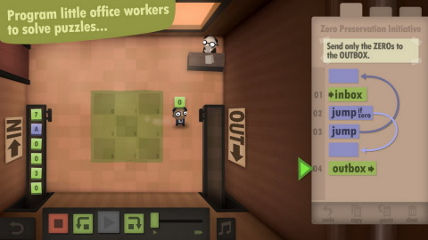 Human Resource Machine is a puzzle game for nerds. (Photo: Business Wire)