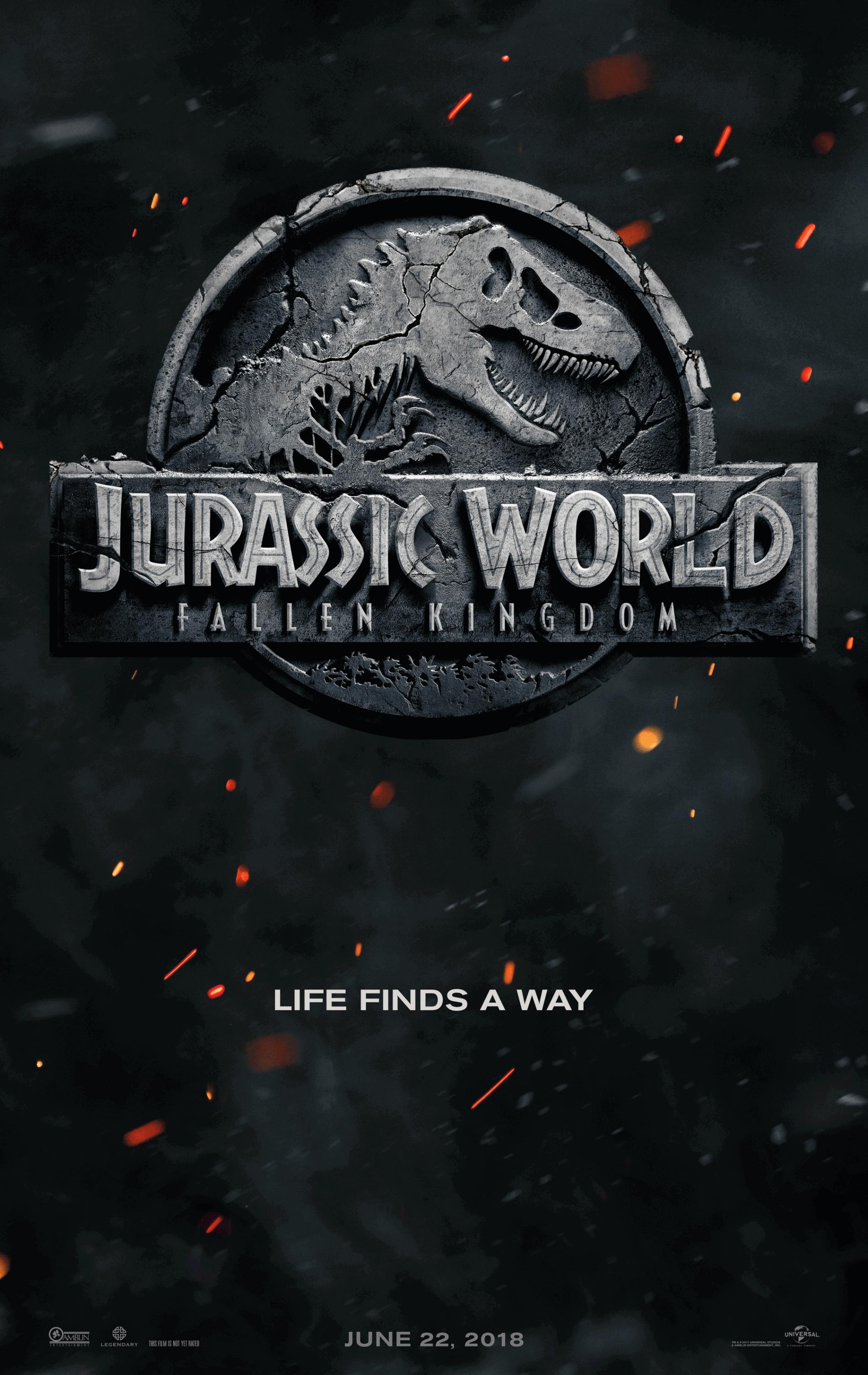 Official movie poster for Jurassic World Fallen Kingdom