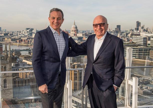 Fox CEO Rupert Murdoch (Right)  Disney CEO Bob Iger (Left)