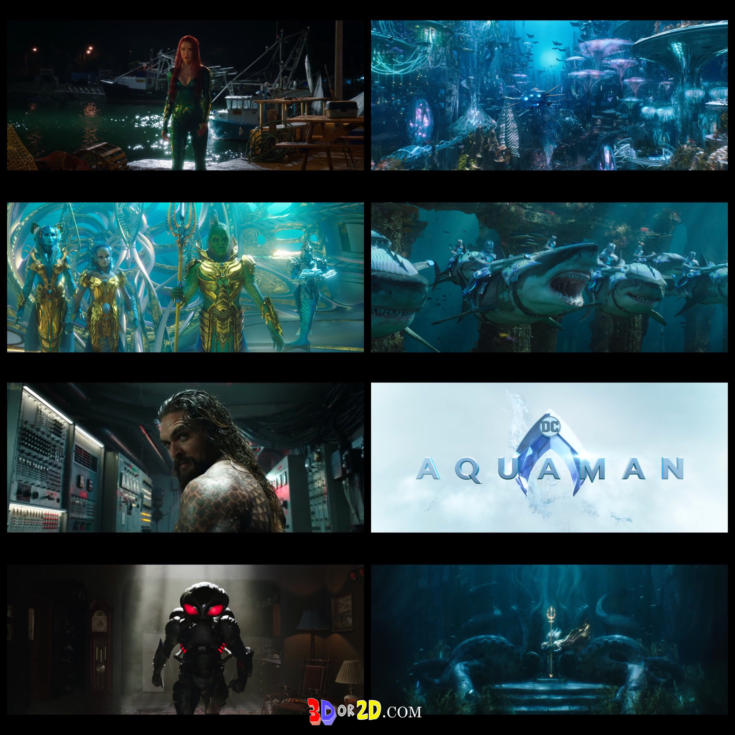 Collage of pictures from the trailer