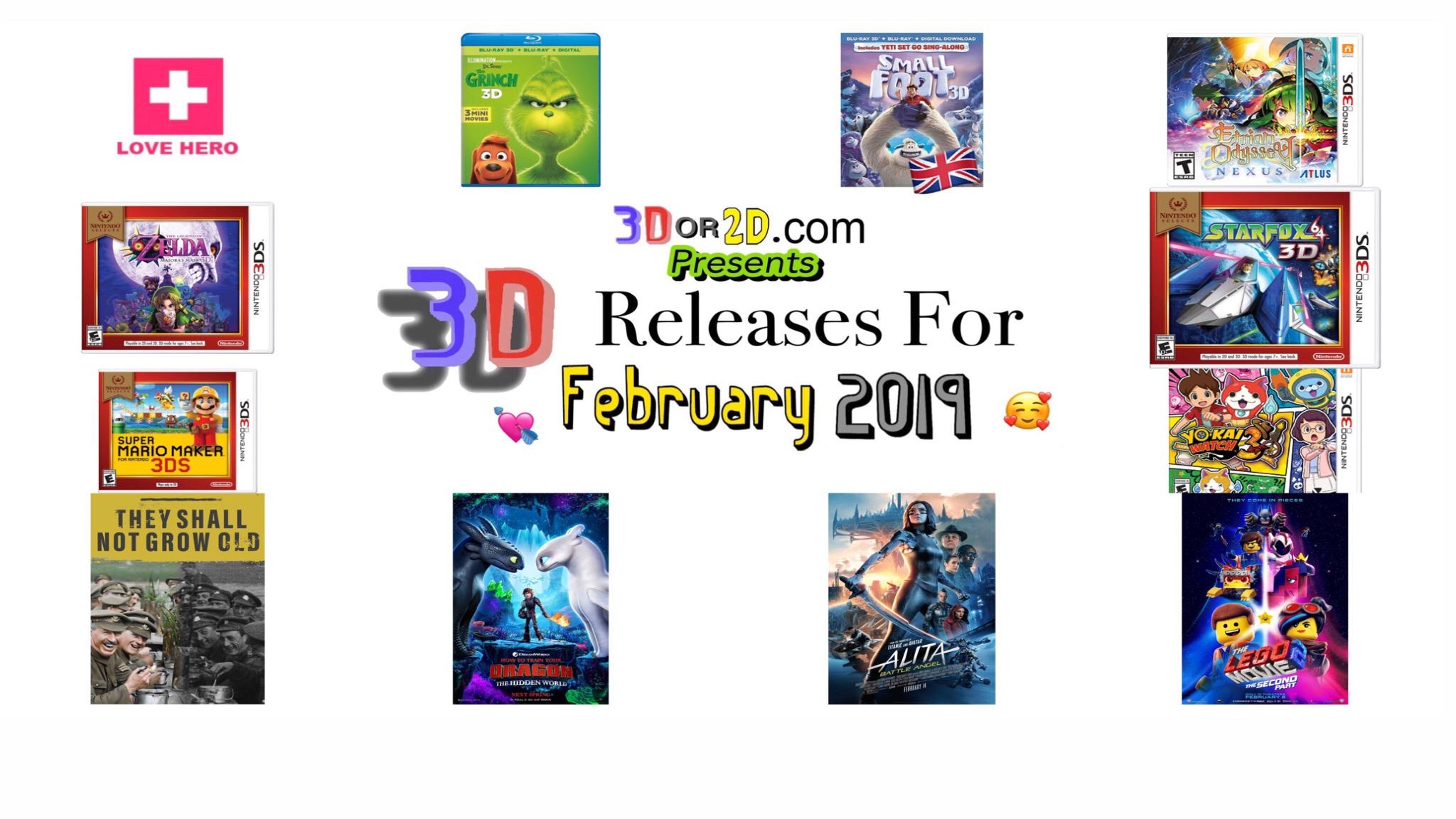 3D Releases for February 2019 — 3Dor2D com