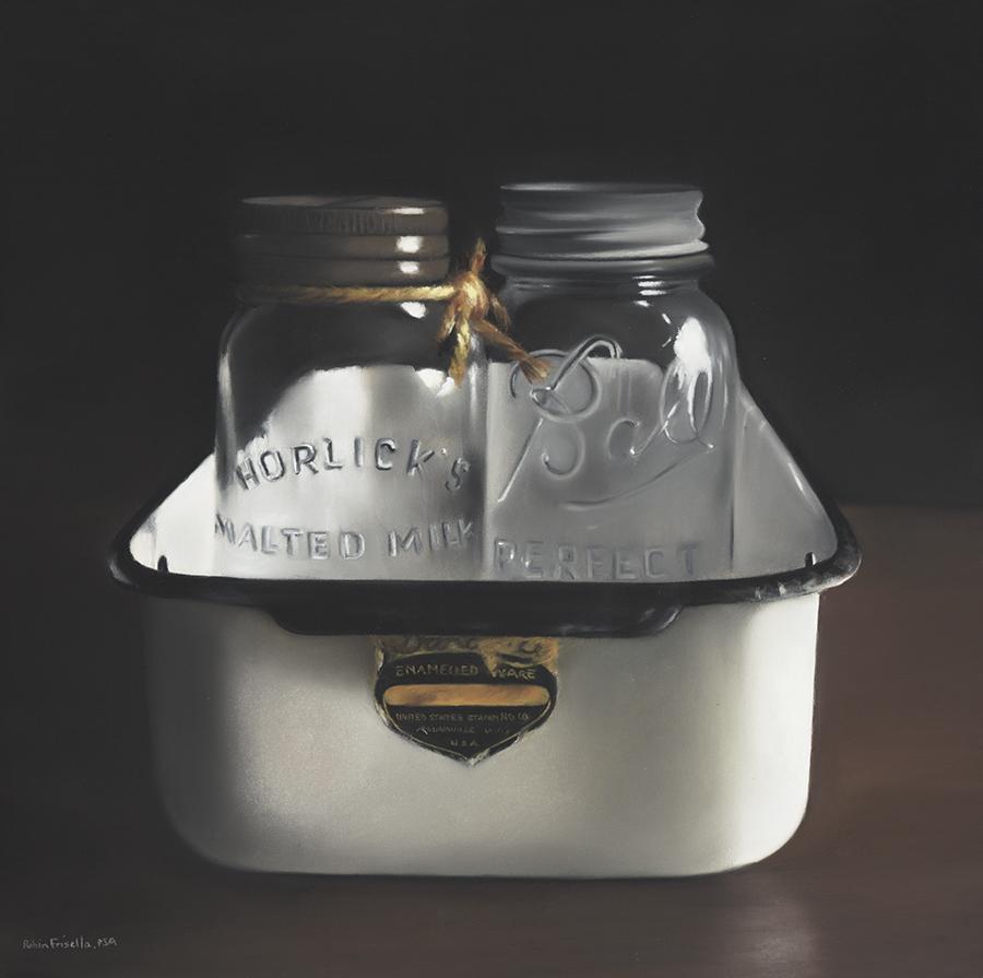 Uncanny, 16x16 Original Pastel by Robin Frisella psa-mp