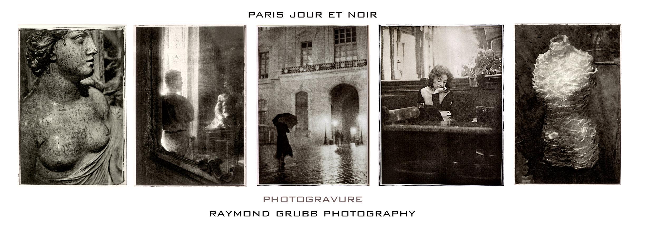 Paris Jour et Noir photogravure card