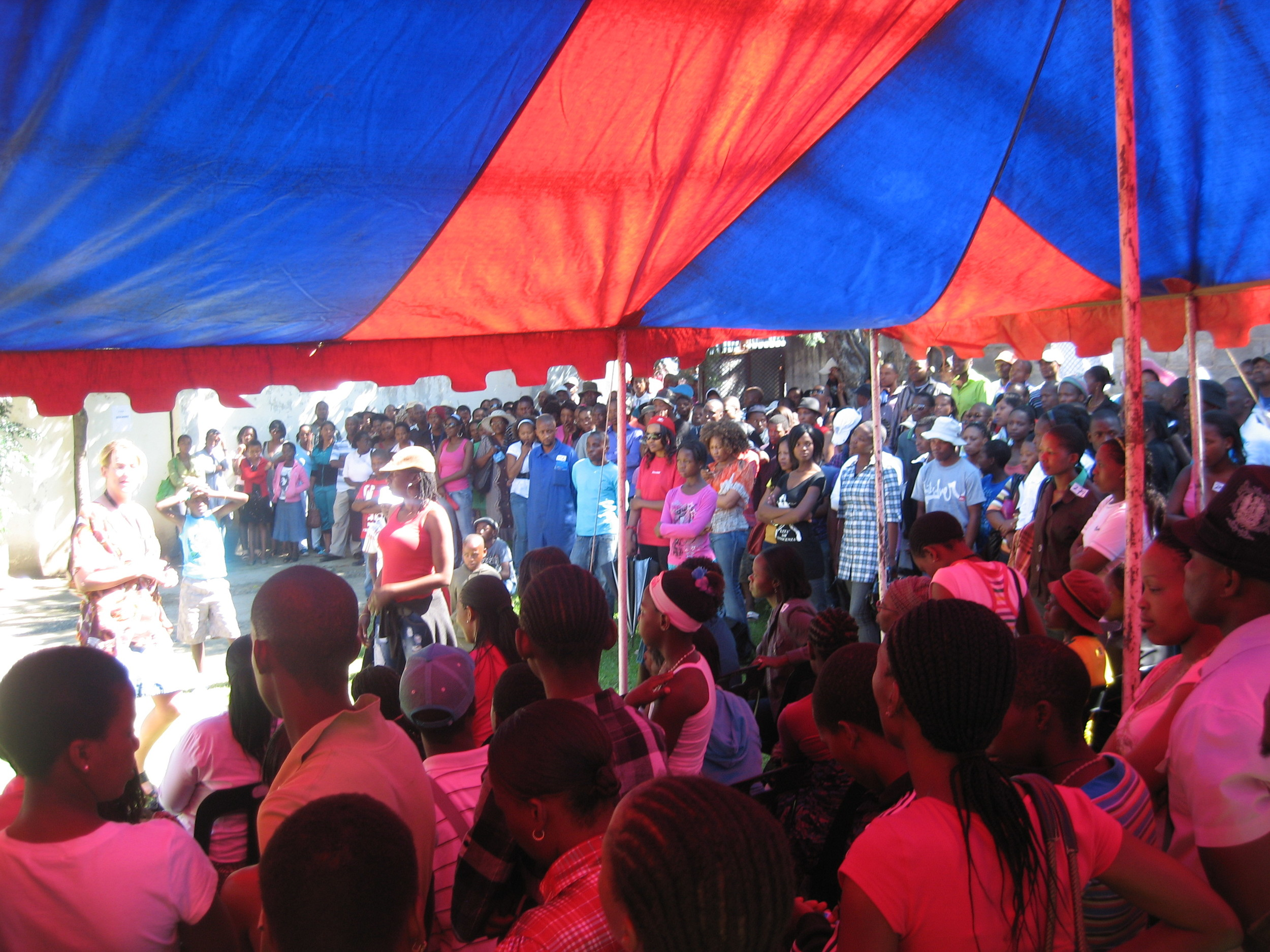 Open casting call in Maseru.
