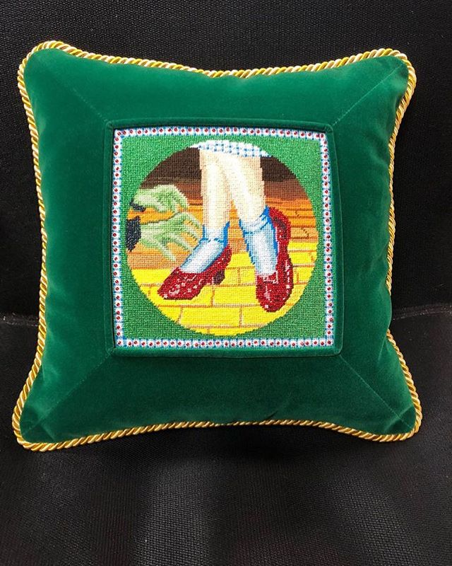 The perfect cute little pillow #pillow #needlepoint #canvas #learnhow #hobby #canvas #handmade