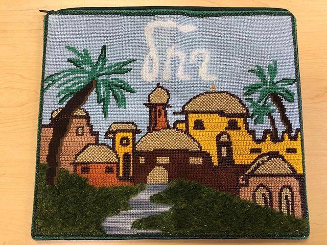 Classic handmade talit bag #handmade #talit #talitbag #needlepoint #canvas #colors #learnhow #hobby #calming