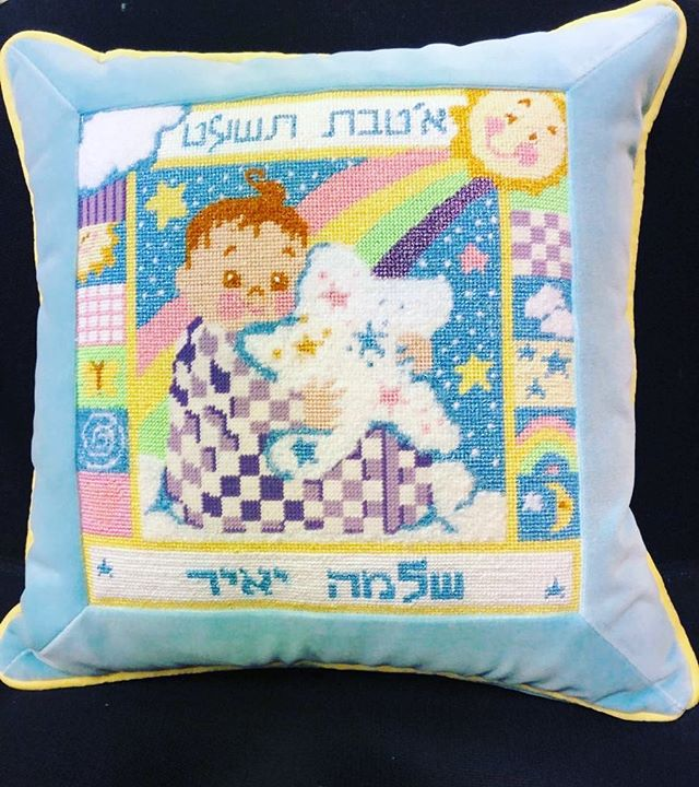 A handmade pillow makes for the perfect gift #gift #handmade #pillow #needlepoint #canvas #handmade #learnhow #hobby #calming