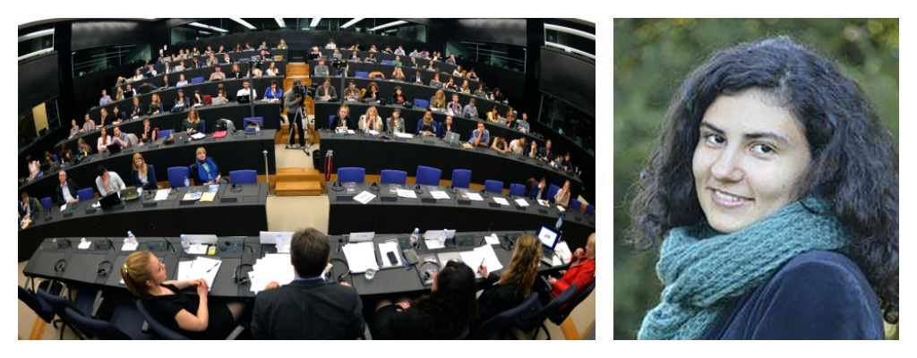 An annual European Youth Media Day event ( left ).Raluca Besliu ( right )