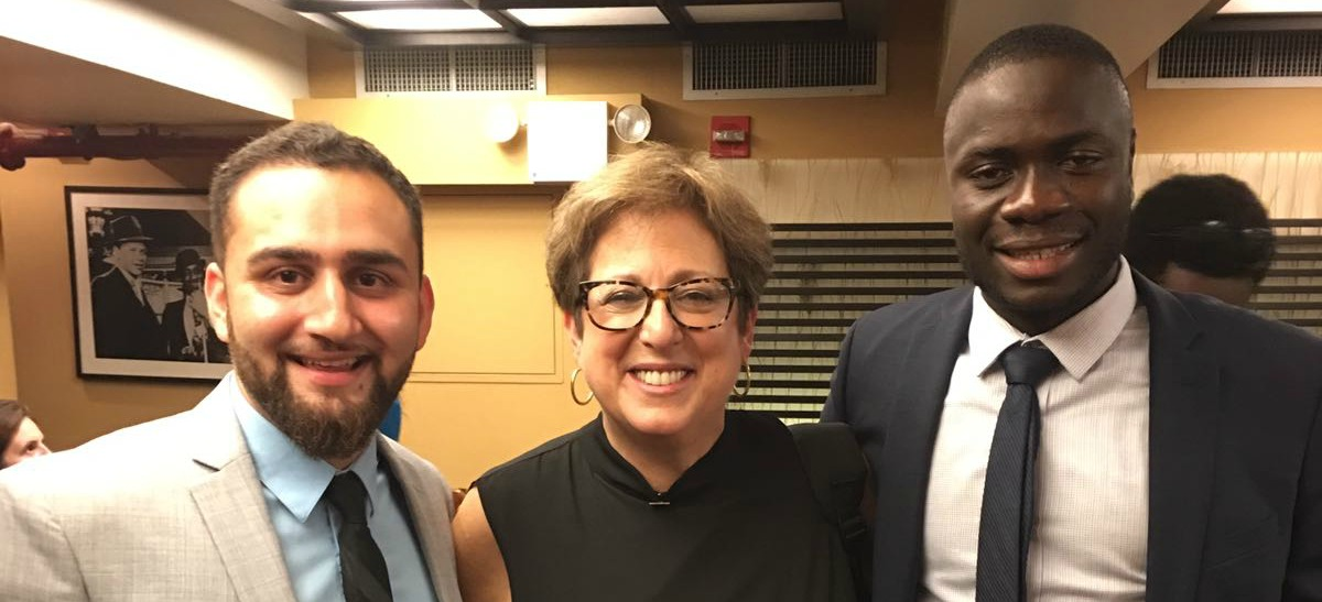 From left to right: Sikandar Kaan; Caryl M. Stern, President & CEO of the U.S. Fund for UNICEF; Oumar Kouraogo.