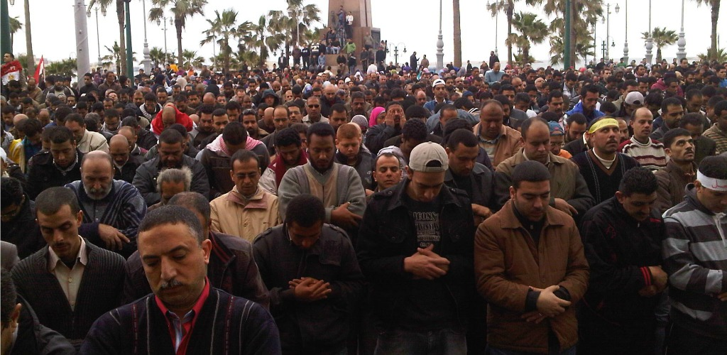 Thousands of protesters walked the streets of the coastal city of Alexandria in 2011 to express their rejection of Egyptian President Hosni Mubarak. Flickr/aljazeeraenglish