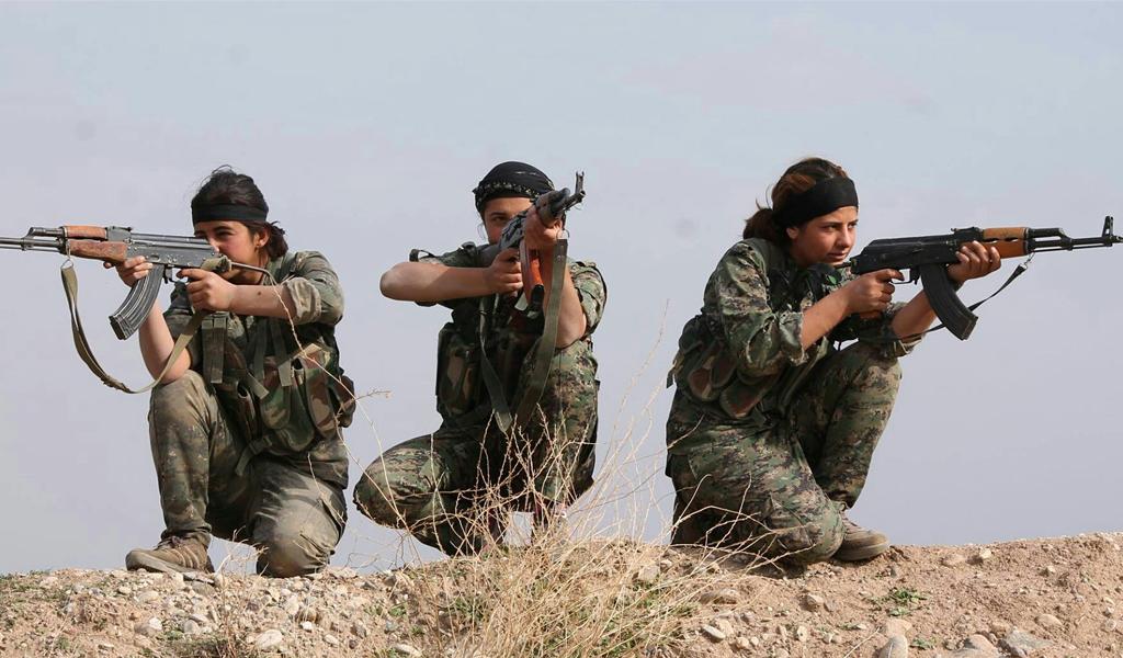 """ Kurdish YPG Fighters ""( CC BY 2.0 )by  Kurdishstruggle"