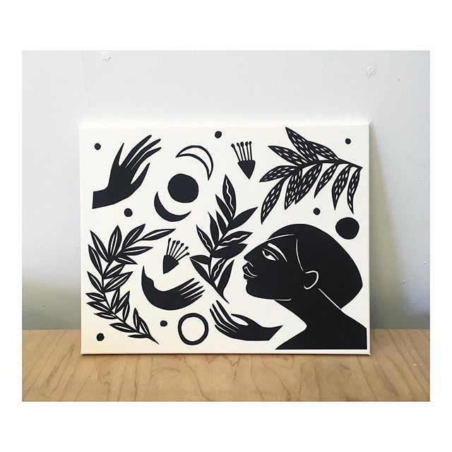 A piece I made a few months back for my friend Ben. Looking forward to making some prints in this vein in the coming months... #papercut #ladylove #wildfeminine #blackandwhite #worksonpaper #drawing #illustration #womenwhomake #AIF #moon #sun #flora #ladies #folkart